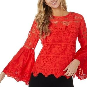 Adiva Lace Bell sleeve top